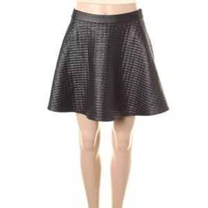 NWT⭐️H.I.P.Black Quilted Mini A-Line Skirt